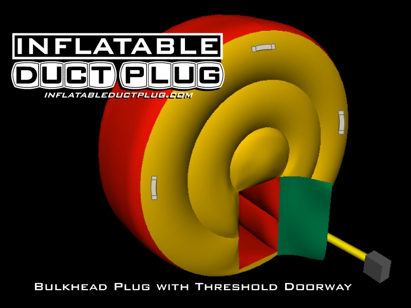 inflatable bulkhead duct plugs