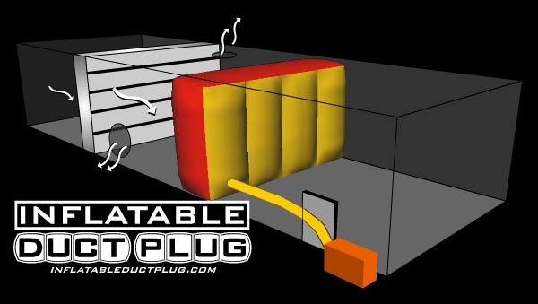installation diagram inflatable duct plug